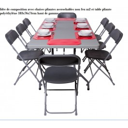 chariot de transport table pliante