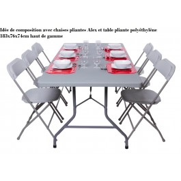 Chariots pour tables et lot de tables