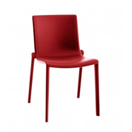 Chaise polypropylène rouge