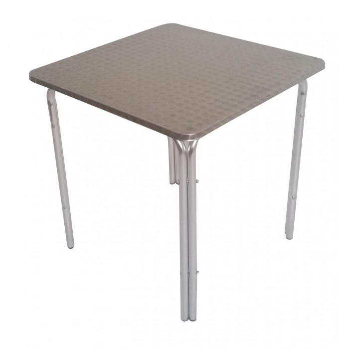 Table Aluminium Carree Plateau De 70 Cm
